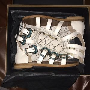 Zadig and Voltaire sandals all leather new in box
